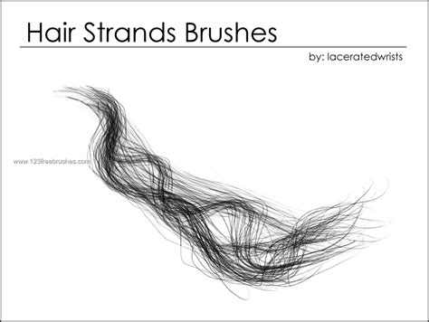 hair download for photoshop hair strands free downloadable brushes 123freebrushes