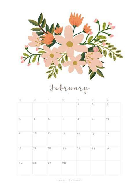 flower design kalender printable february 2018 calendar monthly planner floral