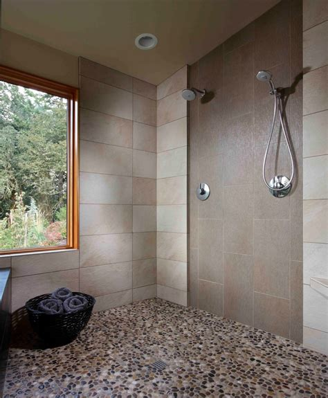 stone floor bathroom 25 interesting pictures of pebble tile ideas for bathroom