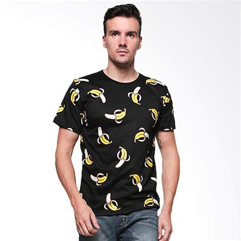 Terbatas Tshirt Hitam Lengan Pendek Pria Bagus jual elfs shop gambar pisang kaos lengan pendek pria