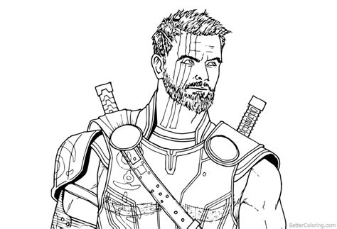 marvel infinity coloring pages avengers infinity war coloring pages thor drawing free