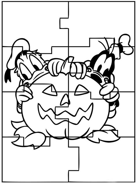 halloween coloring pages halloween puzzles coloring pages