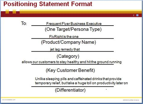 positioning statement template positioning statement marketing caign development