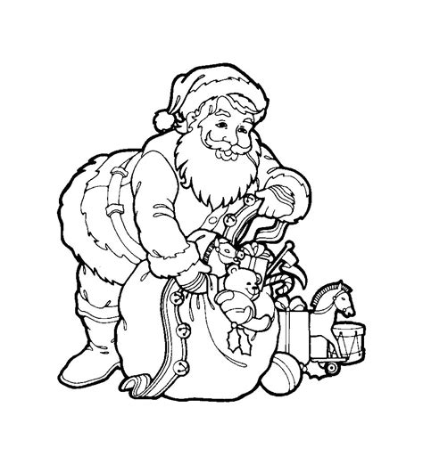 Printable Santa Claus Coloring Pages Coloring Me Santa Claus And Tree Coloring Pages