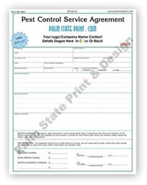 pest invoice template 50 2 part pest inspection service agreement