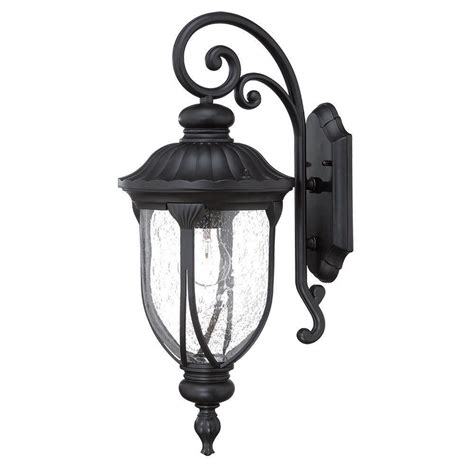 home depot exterior light fixtures acclaim lighting laurens collection 1 light matte black outdoor wall mount light fixture 2212bk