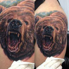 tattoo 3d bear mother and baby bear tattoo on shoulder tattoomagz
