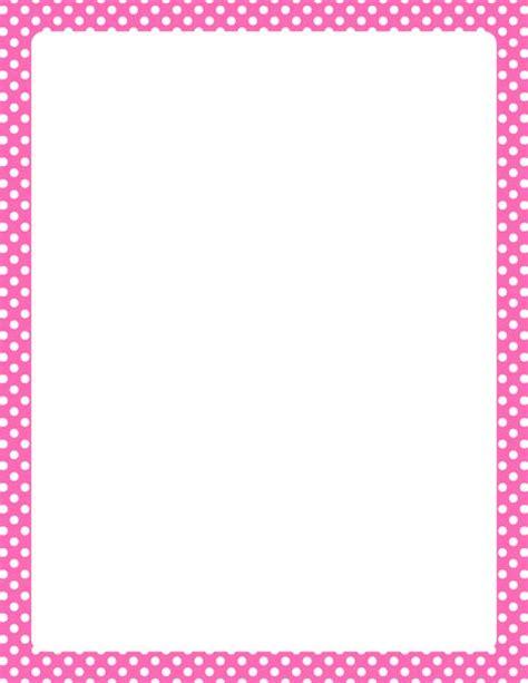 printable polka dot border paper printable hot pink and white polka dot border free gif