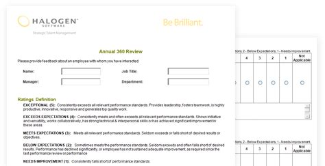 360 Degree Feedback Forms Download Toolkit 360 Feedback Form Template