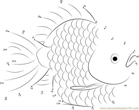 printable dot to dot fish gold fish dot to dot printable worksheet connect the dots