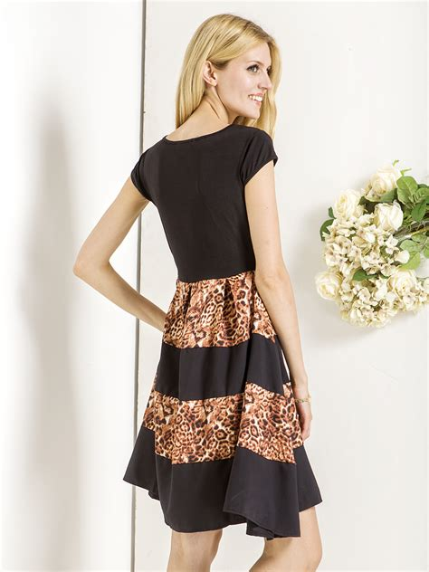 Print Panel Sleeve Dress professionals lowest price special offers black panel