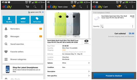 bay app for android ebay for android update brings new shopping cart feature and improved ui