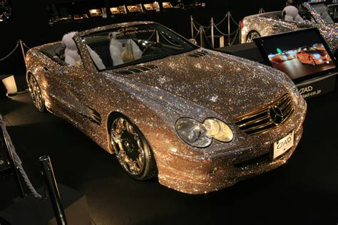 gold glitter car swarovski car wow the ballast