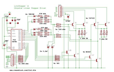transistor stepper motor driver circuit change bipolar to mosfet in stepper driver