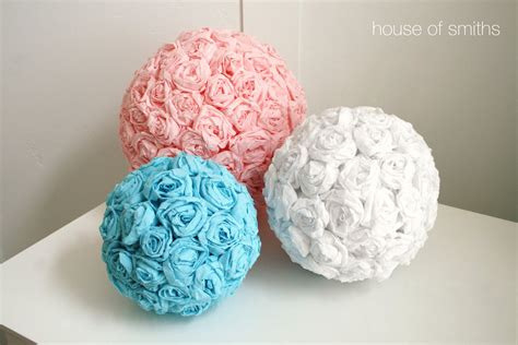 How To Make Decorative Paper Balls - tissue paper flower balls