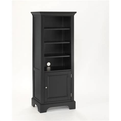 home styles furniture home styles furniture bedford 4 shelf wood bookcase ebony