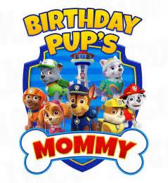 paw patrol iron transfer bone blue birthday pup mommy luvibeekidsco