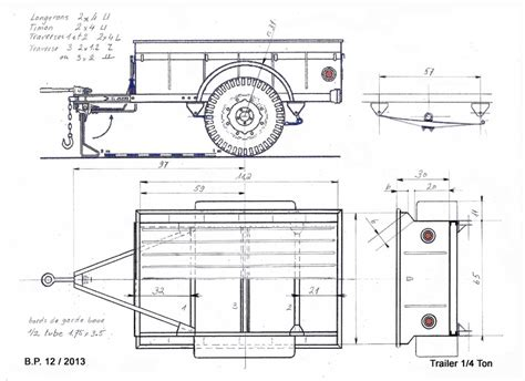Willys Jeep Plans Plan Remorque Willys