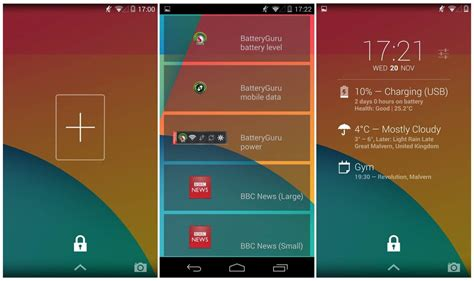 lock screen widgets for android how to enable lock screen widgets in android 4 4 kitkat tip drippler apps news