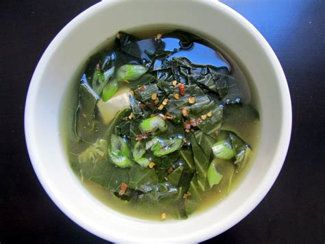 Detox Miso Soup by Collard Green Miso Soup Sweet Potato Soul By Jenn 233 Claiborne