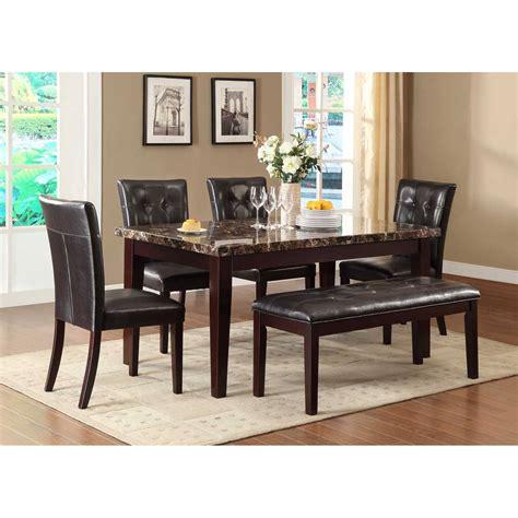 5pc faux marble dining table set teague faux marble dining set espresso 5pc set table