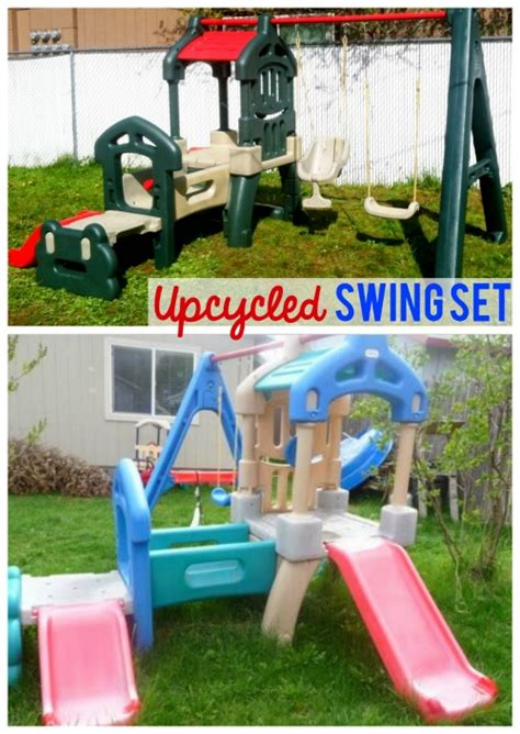 little tikes step 2 swing set little tikes and step2 upcycle ideas