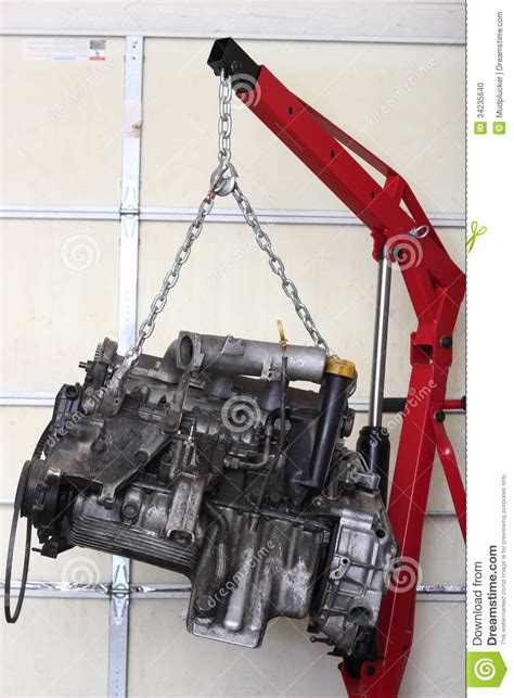 engine  shop  rebuild stock photo image