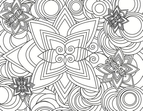 Detailed Geometric Coloring Pages To Print | existance printable coloring pages detailed geometric