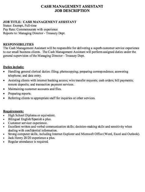 Best Resume Reddit by Cash Management Job Description Resumes Design