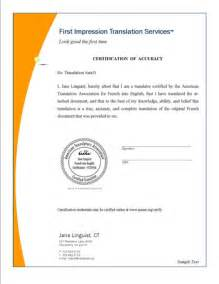 Document Certification Letter Sample opportunity for certified translators to document their certification