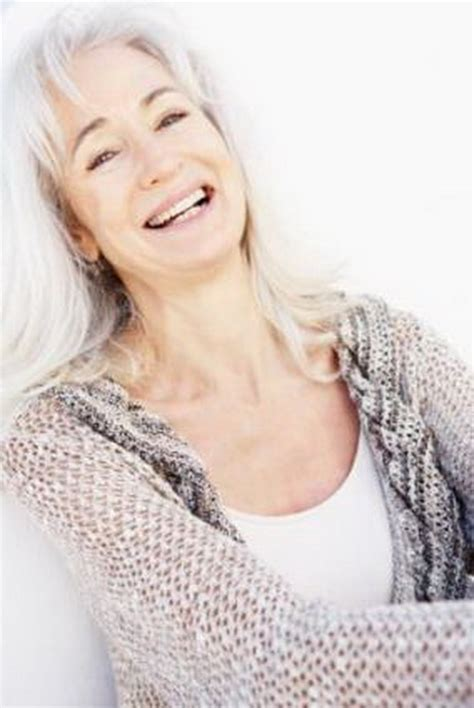 seniors with silver hair hairstyles for older women with long hair