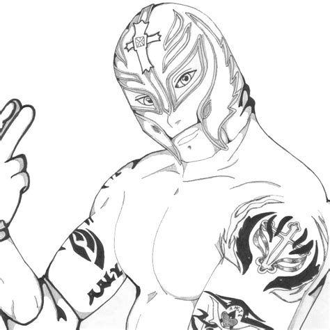 free rey mysterio draw coloring pages