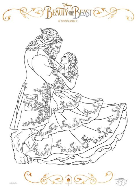 beauty and the beast dancing coloring pages get this beauty and the beast 2017 coloring pages belle