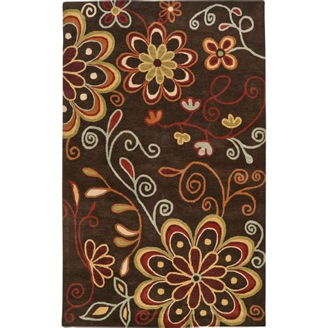 brown accent rug artistic weavers sarah brown 2 ft x 3 ft accent rug sar