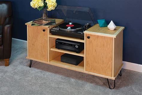 record player storage record player stand with storage buildsomething com