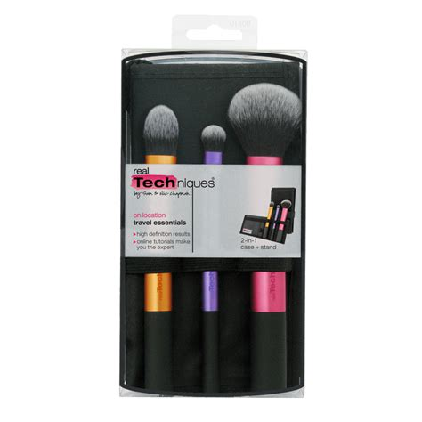 Diskon Real Tech Niques 3pcs Brush Travel Essentials real techniques travel essentials kit 3 stk 139 kr