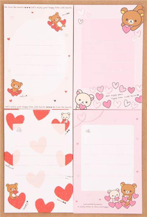 Rillakuma Japan Letter Set rilakkuma letter paper set japan