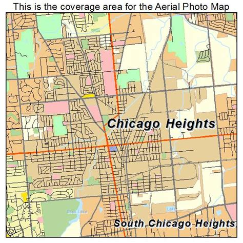 chicago map illinois aerial photography map of chicago heights il illinois