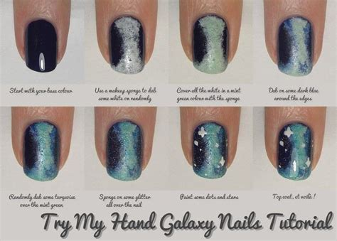 tutorial nail art galaxy nail art tutorial galaxy nails 183 how to paint patterned