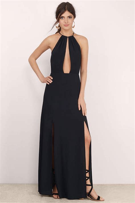 Dress Slit trendy black dress side slit dress dress maxi