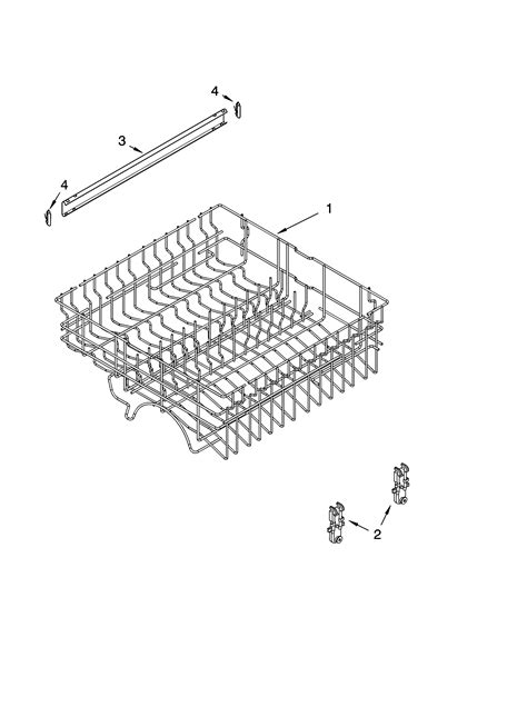 whirlpool dishwasher rack parts upper rack and track parts diagram parts list for model gu1100xtls1 whirlpool parts dishwasher