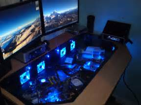 computer desk for gaming see through desktop pc and gaming desk science and