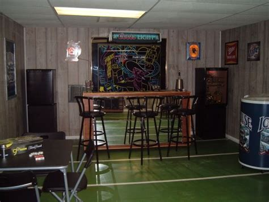 Garage Bar Ideas Sports Bar Flooring Idea Sports Bar