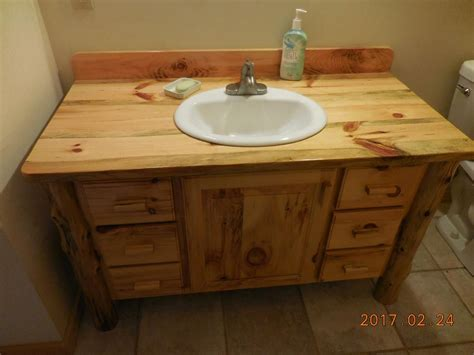 custom made bathroom vanity hand made knotty pine bathroom vanity by harry s cabin furniture custommade com
