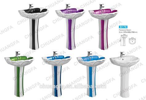 Colored Pedestal Sink Chaozhou Ceramic Sink Color Pedestal Basin For Algeria