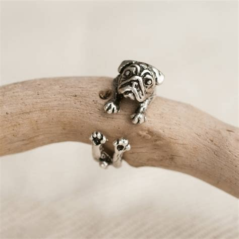 pug ring pug ring by oh so cherished notonthehighstreet