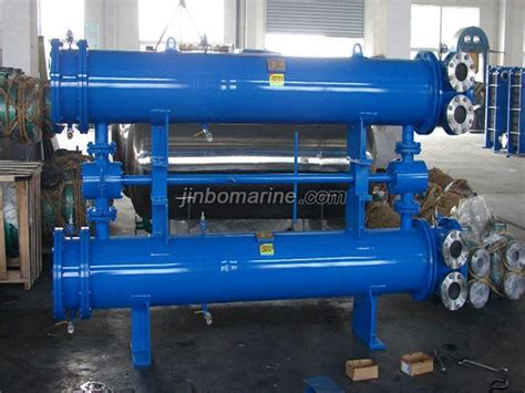 sgll type duplex vertical oil cooler buy heat exchanger  china manufacturer jinbo marine