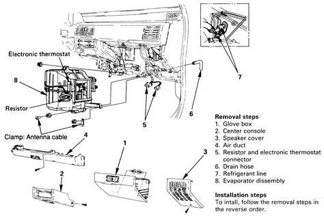 service manual ac repair diagram 1993 isuzu amigo 1993 isuzu pickup and amigo electrical repair guides air conditioner evaporator assembly autozone com