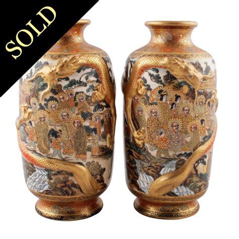 vasi satsuma satsuma pottery vases antique japanese kinkozan vases