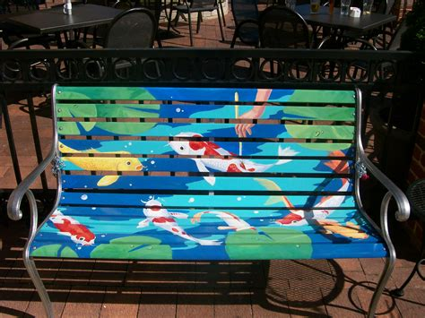 bench painting ideas faux painting a chicagoland park bench painting in